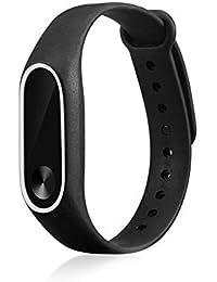 YHLVE 1 Ersatzband Verstellbares Weiches Silikon Band Armband für Xiaomi Mi Band 2