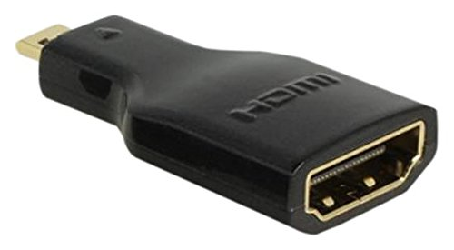Image of DELOCK Adapter High Speed HDMI mit Ethernet - HDMI Micro-D Stecker > HDMI-A Buchse 4K schwarz