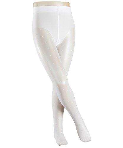 FALKE Mädchen Strumpfhosen / Leggings Romantic Dot - 1 Paar, Gr. 152-164, weiss, Feinstrumpfhose hautschmeichelnd
