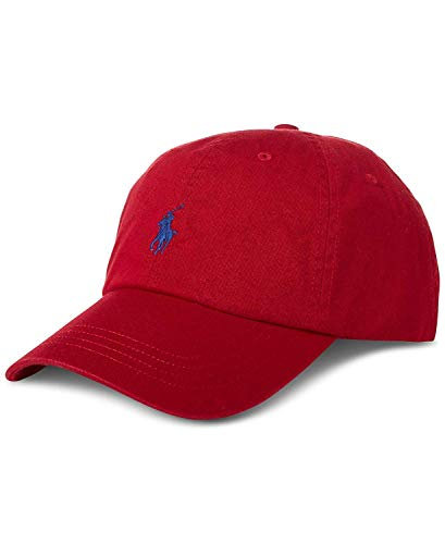 Imagen de polo ralph lauren   de béisbol  rojo con logo azul marino