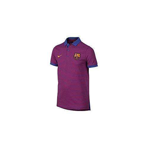 Nike FCB et NSW GSP PQ AUT Polo manches courtes FC Barcelona homme Azul (Game Royal / True Red / University Gold)