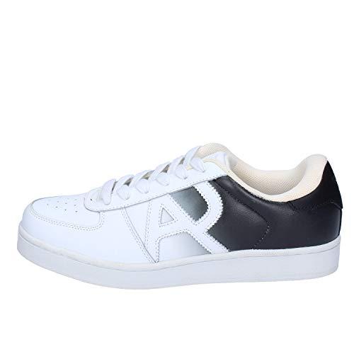 Armani Jeans Sneakers Herren Leder weiß 41 EU