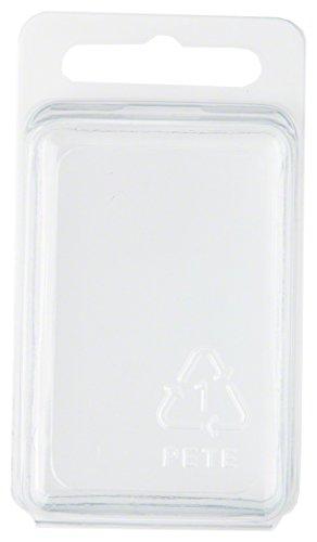 Klar Kunststoff Clamshell Paket/Container, 5,9cm H x 5,9cm W x 3,2cm D, plastik, 50-Pack