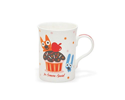 Clay Craft Anny 308 Bone China Milk Mug, 350ml/7.0cm, Multicolour  available at amazon for Rs.132