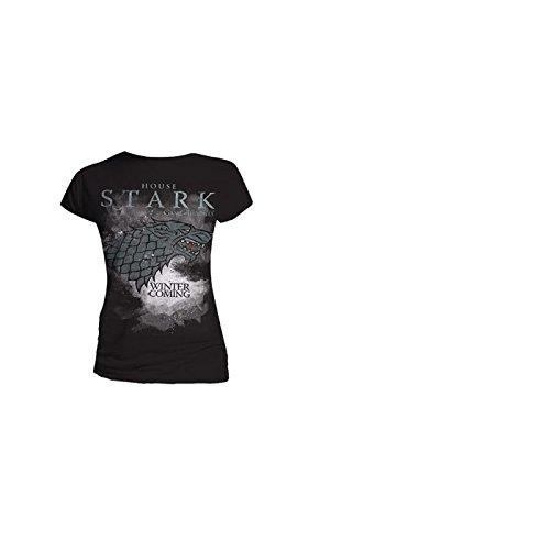Game of Thrones - House Stark, Short sleeve da donna, grigio (charcoal grey), Small