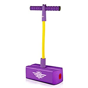 WIKI Boys Toys Age 4-5, Foam Pogo Stick Jumper for Kids Gifts for Boys Girls Age 3-12 Birthday Presents Gifts for 3-12 Year Old Girls Toys Age 3-12 Purple WKUKQWT03