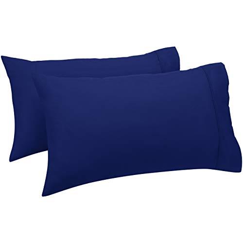 Amazonbasics - federe a 400 fili, set di 2, 50 x 80 cm - blu navy