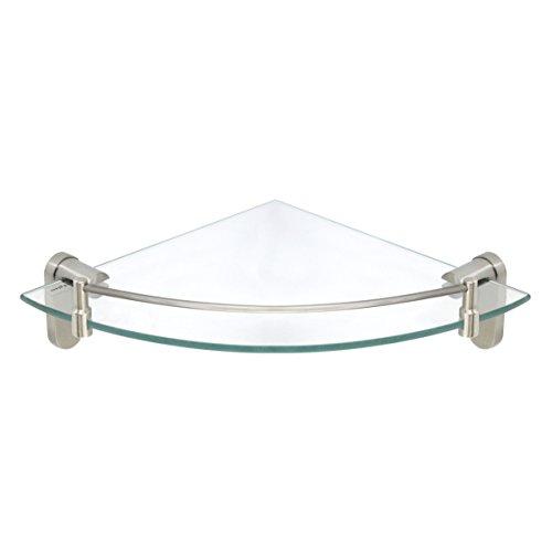 Modona mensola angolare in vetro con rail-nickel