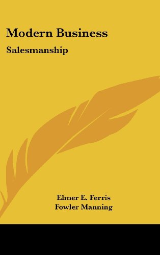 Modern Business: Salesmanship