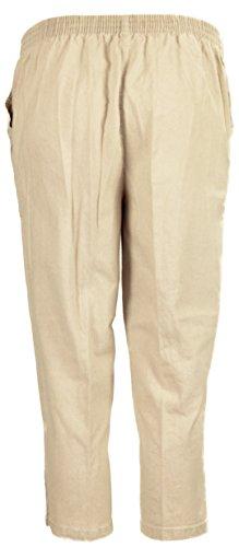 I47 Femmes Taille Élastique Faux Jeans Grande Taille Dames 3/4 Court Pantalon Pierre