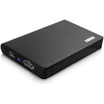Anker® USB 3.0 & eSATA Externes Festplattengehäuse Hard Drive Enclosure für 9,5mm & 12,5mm 2,5 Zoll SATA-I, SATA-II, SATA-III HDD und SSD, Werkzeuglose HDD Installation