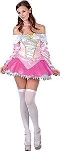 Ciao-Disfraz Antes y después de la medianoche - Disfraz de mujer - Para adultos - Talla única Bella durmiente (rosa, blanco)