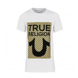 True Religion White True U Logo Tee-XXL