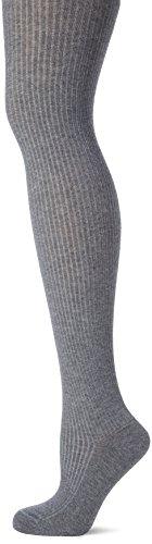 KUNERT Damen Strumpfhose Elegant Rib, 100 Den, Grau (Platin-Mel. 4560), 42/43 (42/44) (Strumpfhose Rib)