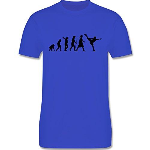Evolution - Eisläuferin Evolution - Herren Premium T-Shirt Royalblau