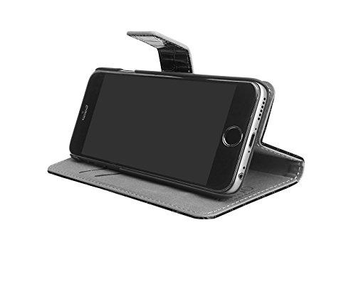 Aiino Étui de protection Coque Case Crocco Accessoire pour téléphone portable Smartphone Apple iPhone 6 noir