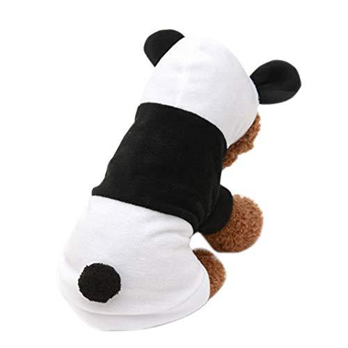 Cutogain Pet Hund Kleidung Niedlichen Weiche Panda Hoodie Pet Puppy Short Sleeve Shirts Kostüm Kleidung, - Pet Panda Kostüm
