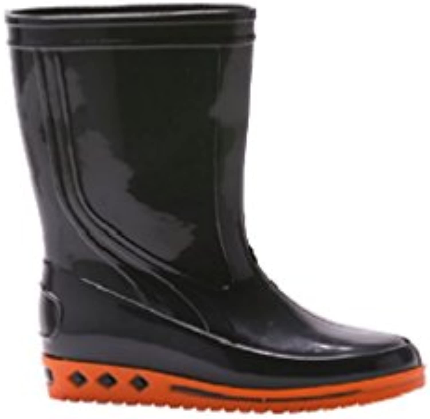 Baudou - Botte enfants de Anthracite/Orange loisirs en PVC BORNEO Anthracite/Orange de 0c6b5a