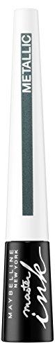 Maybelline Master Ink Metallic Eyeliner Nr. 33 Glimmer Green, Flüssig-Eyeliner für den angesagten...