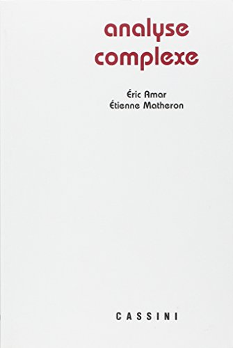 Analyse complexe par Eric Amar