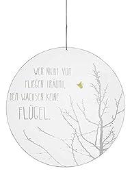 Räder - ZUHAUSE - Glaspoesie - Baum und Biene - gefrostetes Glas Ø 26cm