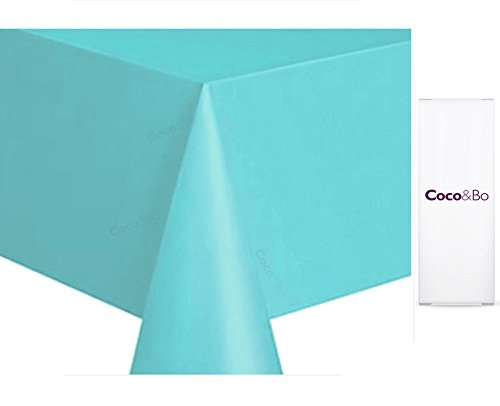 t at Tiffany's Blue Disposable Plastic Tablecover - Tiffany & Co Birthday Hen Night Engagement Baby & Co Shower Christening Party Table Decorations by Coco & Bo (Breakfast At Tiffany ' S Party Supplies)