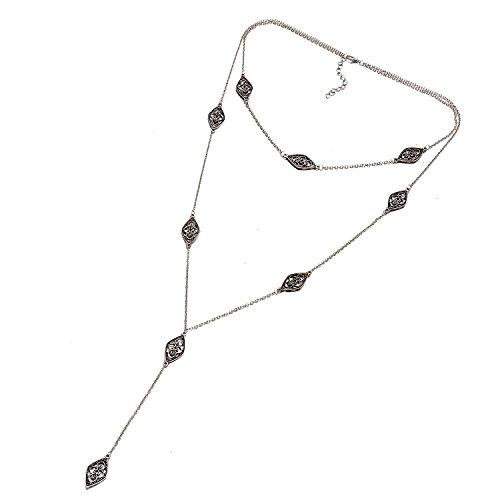 Onnea Collar Cadena Vintage Y Forma Negro para Mujer Joven Niñas