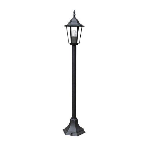 Fan Europe Palo lampione a Tenuta stagna da Giardino E27, 40 W, Nero, 105.5x21