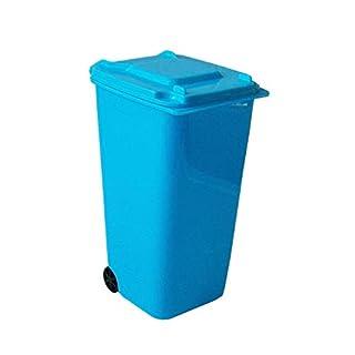 Anik-Shop Mini MÜLLEIMER Mülltonne Deckel Tischabfalleimer Abfalleimer Abfallsammler 31 (Blau)