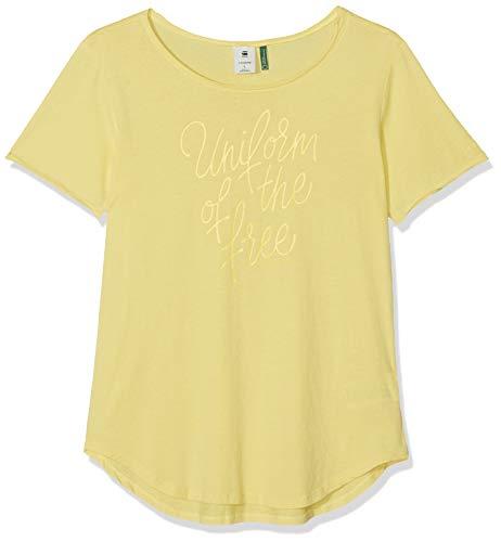 G-STAR RAW Damen Graphic 18 Mysid Slim T-Shirt, Beige (Lemonade 504), Medium (Herstellergröße:M)