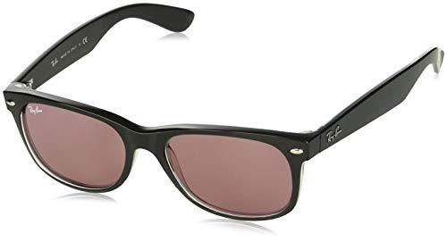 Ray-Ban Herren 0RB2132 Sonnenbrille, Schwarz (Black/Trasparent), 54