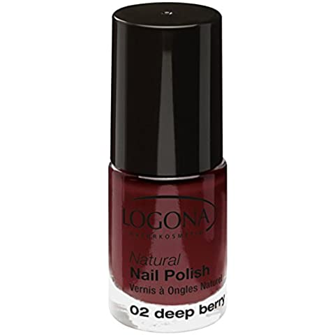 LOGONA Natural Esmalte De Uñas 02 baya de profunda (bio) Esmalte rojo oscuro