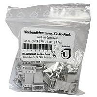 VERBANDKLAMMERN weiß mit Gummiband 50 Stück preisvergleich bei billige-tabletten.eu