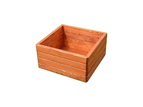 Pot en bois pour jardin, Patio, terrasse, Polypropylene D16 sur le dessus Marron clair