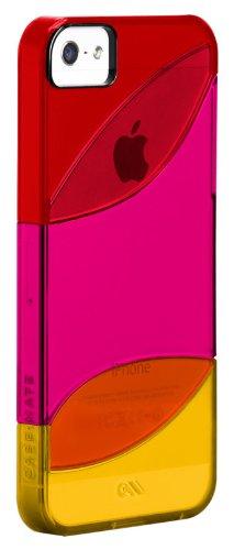Barely There Case für iPhone 4, Kunststoff, Transparent Orange, Pink, Rot