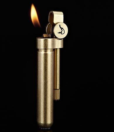 LYP BNC004 Retro Messing Schleifscheibe Rohr Gas feuerzeug