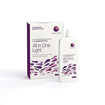 CooperVision All in One Light Kontaktlinsenflüssigkeit - Kontaktlinsenzubehör 2er Pack (2 x 360 ml)