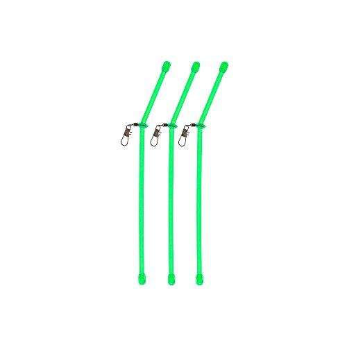 Anti Tangle Boom mit Wirbel casting booms Abstandhalter Durchlauf Röhrchen Angel Zubehör feedern feederangeln (grün - 10 cm)