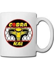 31BeUzm%2BnyL - Taza para el café, desayuno, etc con logo clásico Cobra Kai