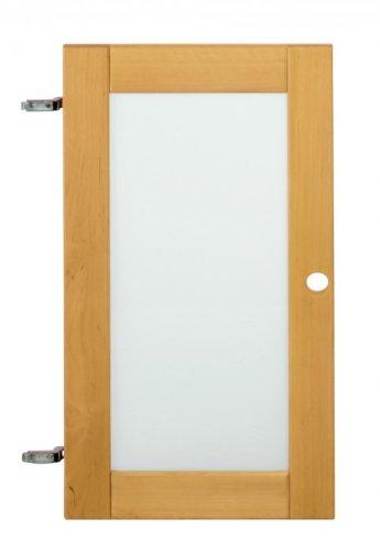 Porte en verre fumé pour les étagères Lara, aulne massif biologique, Maße:80 cm