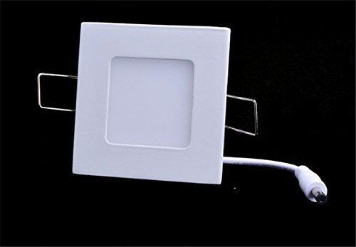 3 Light Semi Flush Kronleuchter (3W LED Bright Einbauleuchte Panel Deckenleuchte Light Down Lampe)