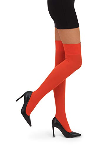 Di Ficchiano Damen Kniestrümpfe CAMILLE Overknee 60 DEN, orange, One Size (S/M/L)
