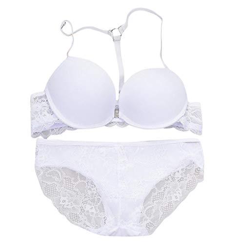 755b5c2ddf KIMODO Lingerie Sujetador de Encaje Sexy para Mujer Underwire Bras Conjunto  de Ropa Interior