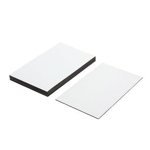 Les étiquettes Magnétiques Souples Avec Surface De Chiffon Sec Blanc Brillant (100 X 60 X 0. 76 Mm) (pack De 10)