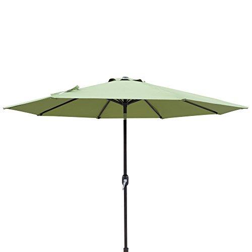 Island Umbrella NU5429CG Trinidad Market Patio Umbrella, Cilantro Green -