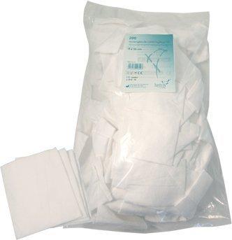 TETRA rectangles coton 8x10cm - sachet vrac 200