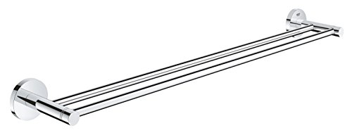 GROHE Essentials | Badaccessoires - Doppel-Badetuchhalter | verdeckte Befestigung, 600 mm | 40802001 - Moderne Handtuch-kollektion