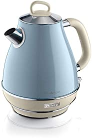 Ariete 2869/05 Retro Style Cordless Jug Kettle, Cool to Touch Exterior and Removable Filter, 1.7 Litre Capacit