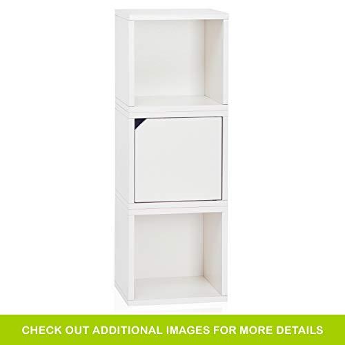 Way basics 3 Modular 3-in-1 Shelf Connect Cube Storage System, weiß (werkzeuglose Montage und einzigartige Verarbeitung aus nachhaltiger ungiftiger zBoard-Kartonage), Recycled paperboard, One Size - Cube Storage-system