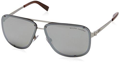 Ralph Lauren Herren 0Rl7055 90306G 64 Sonnenbrille, Silber (Brushed Gray Silver Mirror)